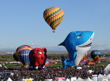 Ballons à air chauds avec des formes spéciales Image libre de droits