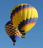 Ballons à air chauds colorés Photos libres de droits