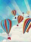 Ballons à air chauds colorés Image stock