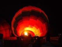 Ballons à air chauds d'explosion chez Cappadocia Photo libre de droits