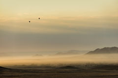 Ballons à air chauds dans la région de Sossusvlei photos stock