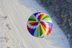 Ballons à air chauds dans le ciel image libre de droits