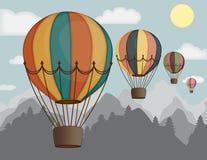 Ballons à air chauds de vecteur illustration stock