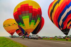 Ballons à air chauds en vol Photographie stock