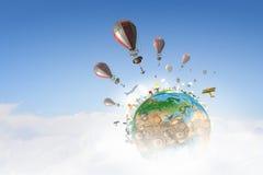 Ballons à air en ciel d'été Photo libre de droits