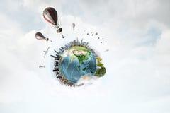 Ballons à air en ciel d'été Image stock