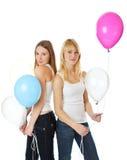 ballons άλμα κοριτσιών Στοκ φωτογραφίες με δικαίωμα ελεύθερης χρήσης