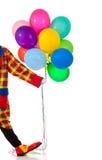ballons εκμετάλλευση κλόουν στοκ φωτογραφία