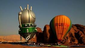 Ballons ζεστού αέρα απόθεμα βίντεο