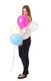 ballons κορίτσι Στοκ Εικόνες