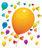 Ballons. Colorful hearts. celebration balloons. balloons for children Royalty Free Stock Photo