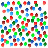 Ballons. An illustrations of a multiple colour ballons Royalty Free Stock Photo