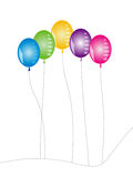Ballons. Seasonal balloons on isolated background Royalty Free Stock Images