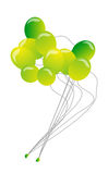 Ballons. Birthday party balloons on isolated background Stock Images