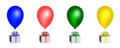 Ballons. 3D Stock Fotografie