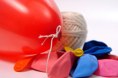 Ballons. And String Royalty Free Stock Photography