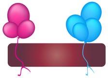 ballons royaltyfri illustrationer