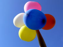 Ballons. Five ballons above blue sky Royalty Free Stock Image