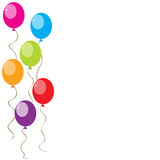 Ballons. A set of bright colourful balloons with copy-space Royalty Free Stock Photo
