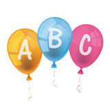 Ballons ABC vector illustratie