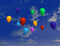 Ballons in the air 2 Stock Photo