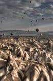 Ballons au-dessus de Cappadocia Images libres de droits