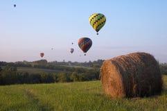 Ballons au-dessus de l'Iowa Photographie stock libre de droits