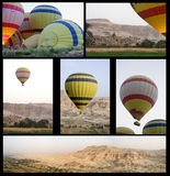 Ballons au-dessus de vallée Images libres de droits