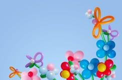 Ballons auf Hintergrundhimmel Lizenzfreies Stockfoto