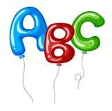 Ballons avec des formes ABC d'alphabets Photographie stock libre de droits