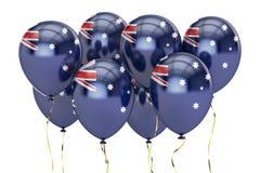Ballons avec le drapeau de l'Australie, concept holyday rendu 3d illustration de vecteur