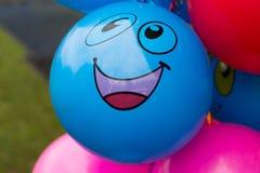 Ballons avec le visage de sourire Image libre de droits