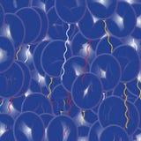 Ballons azuis do partido Foto de Stock Royalty Free