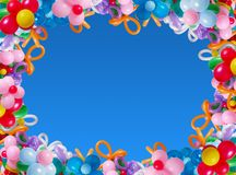 Ballons on background sky royalty free stock photo