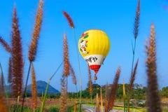 Ballons, Ballons in hemel, Ballonfestival, Internationale de Ballonfiesta 2017, Chiang Rai, Thailand van Singhapark Royalty-vrije Stock Foto's