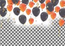 Ballons Berijpt de gebeurtenisontwerp van partijballons Geïsoleerdeo ballons stock illustratie