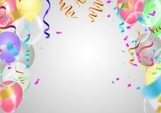 Ballons Berijpt de gebeurtenisontwerp van partijballons Geïsoleerdeo ballons vector illustratie