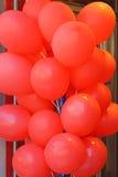 Ballons. Big bunch of red latex ballons Stock Photography