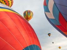 Ballons bij Meer Havasu, Arizona stock afbeelding