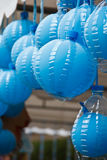 Ballons bleus. Photo stock