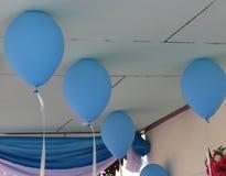 Ballons bleus Photos libres de droits
