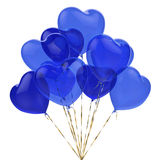 Ballons bleus sous forme de coeur pour la célébration Photo libre de droits