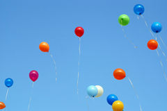 Ballons in the blue sky Royalty Free Stock Photography