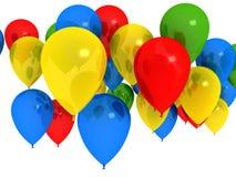 Ballons brilhantes sobre o branco Imagens de Stock