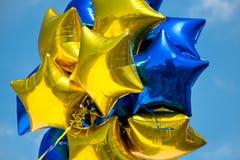 Ballons brillants d'étoile image libre de droits