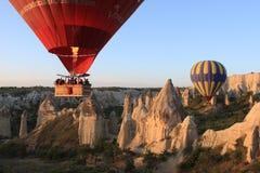 Ballons in Cappadocia royalty-vrije stock afbeelding