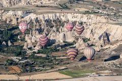 Ballons in Cappadocia Royalty-vrije Stock Afbeeldingen