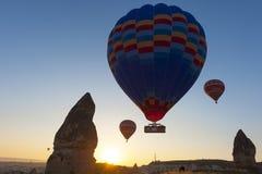 Ballons in Cappadocia Stock Foto