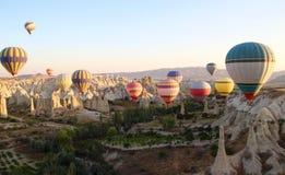 Ballons Cappadocia Turquie Goreme Valey Image libre de droits
