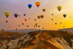 Ballons CappadociaTurkey royalty-vrije stock afbeelding